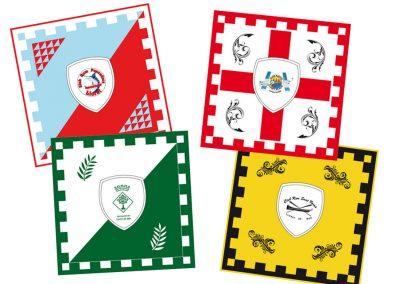 Banderas fiesta patronal de Lloret de Mar. Obrería Santa Cristina