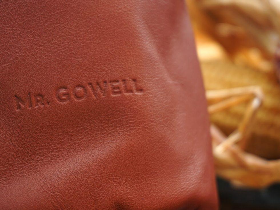 Detalle bolsas piel campo MrGowell