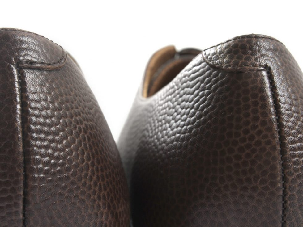 Detalles talon costura zapatos MrGowell