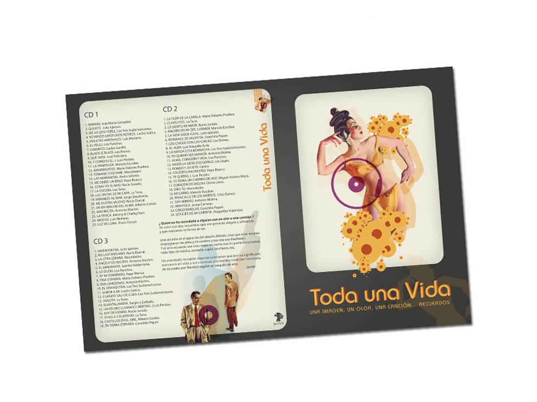 Diseño de portada e interior de DVD