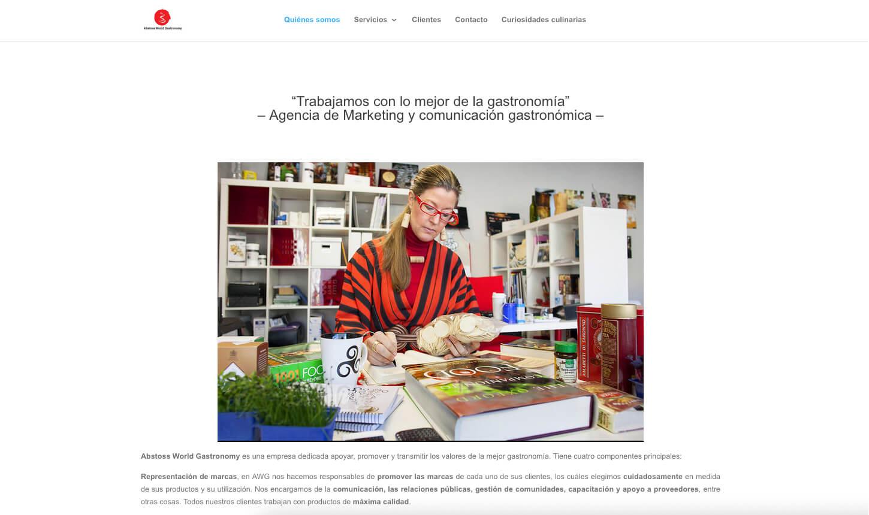 Página web principal Abstoss World Gastronomy