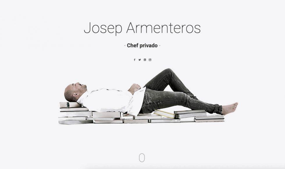 Pagina web cocinero Josep Armenteros
