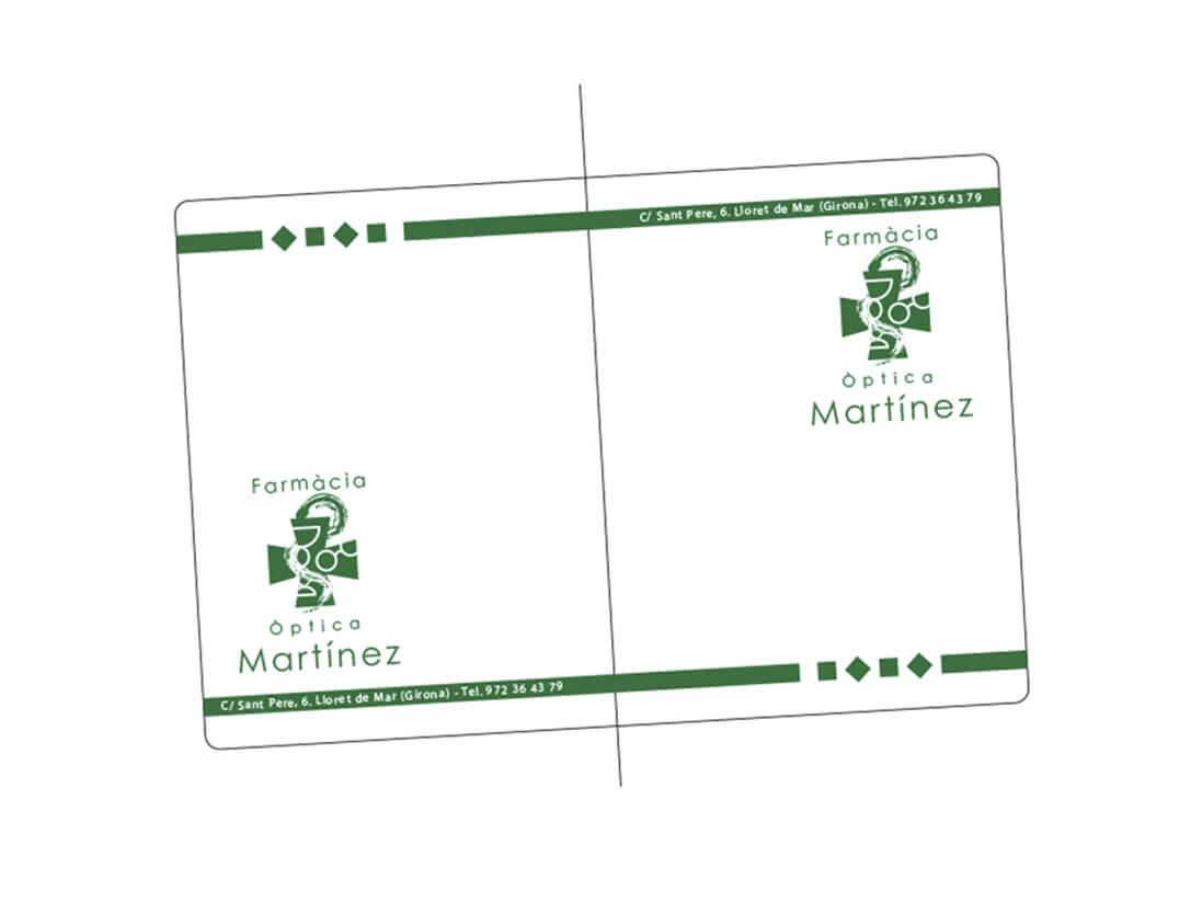 Porta recetas Farmacia Martinez