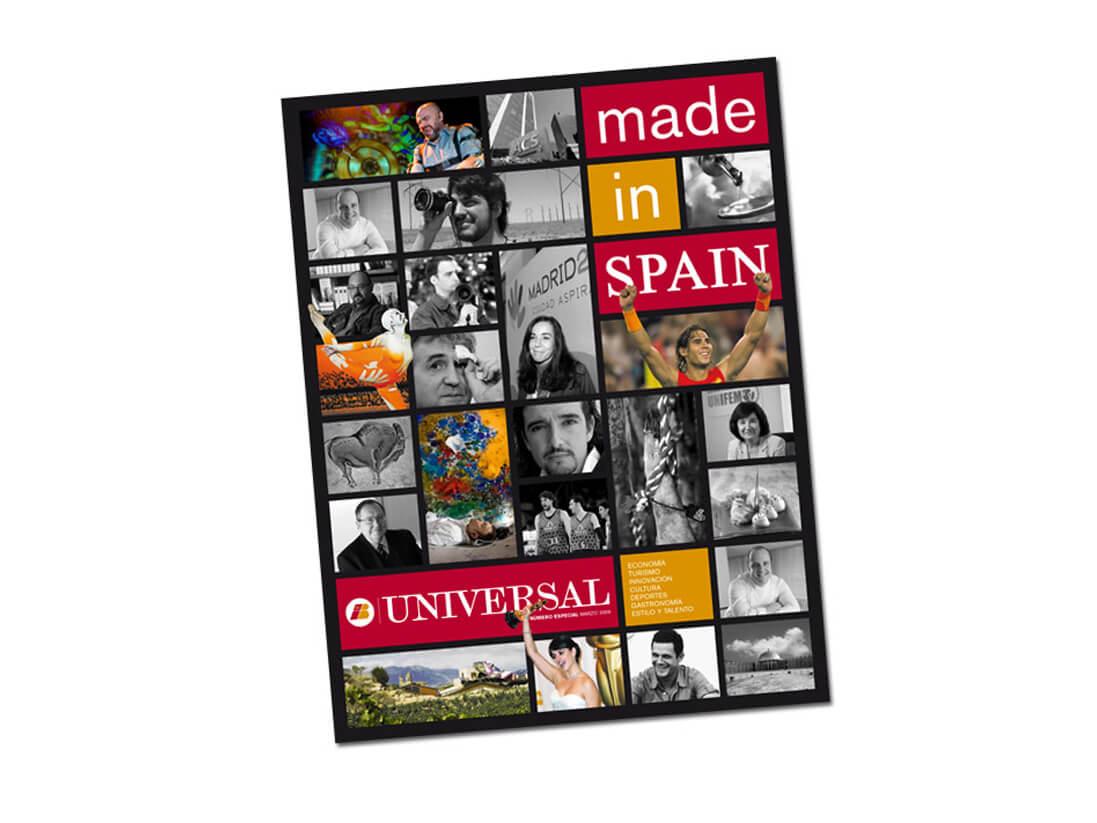 Maquetación y diseño diario y portadas Iberia Universal