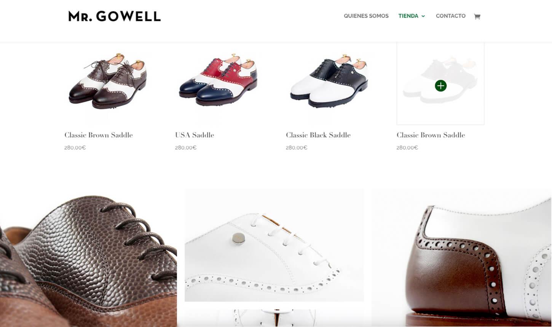 Seccion de producto MrGowell