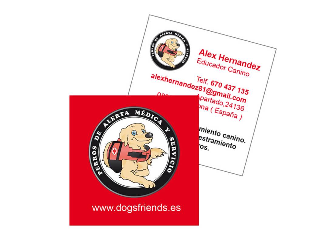 Imagen corporativa perros de alerta médica y servicios
