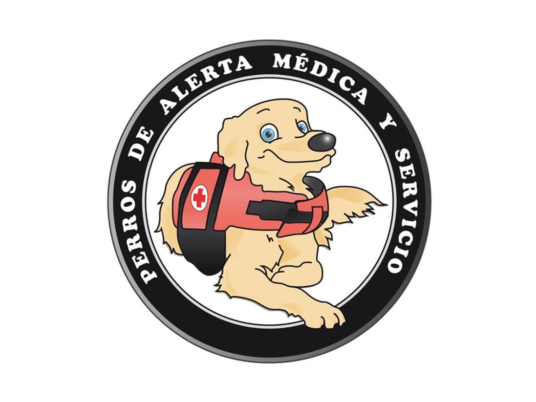 Trazado y diseño perros de alerta médica y servicios