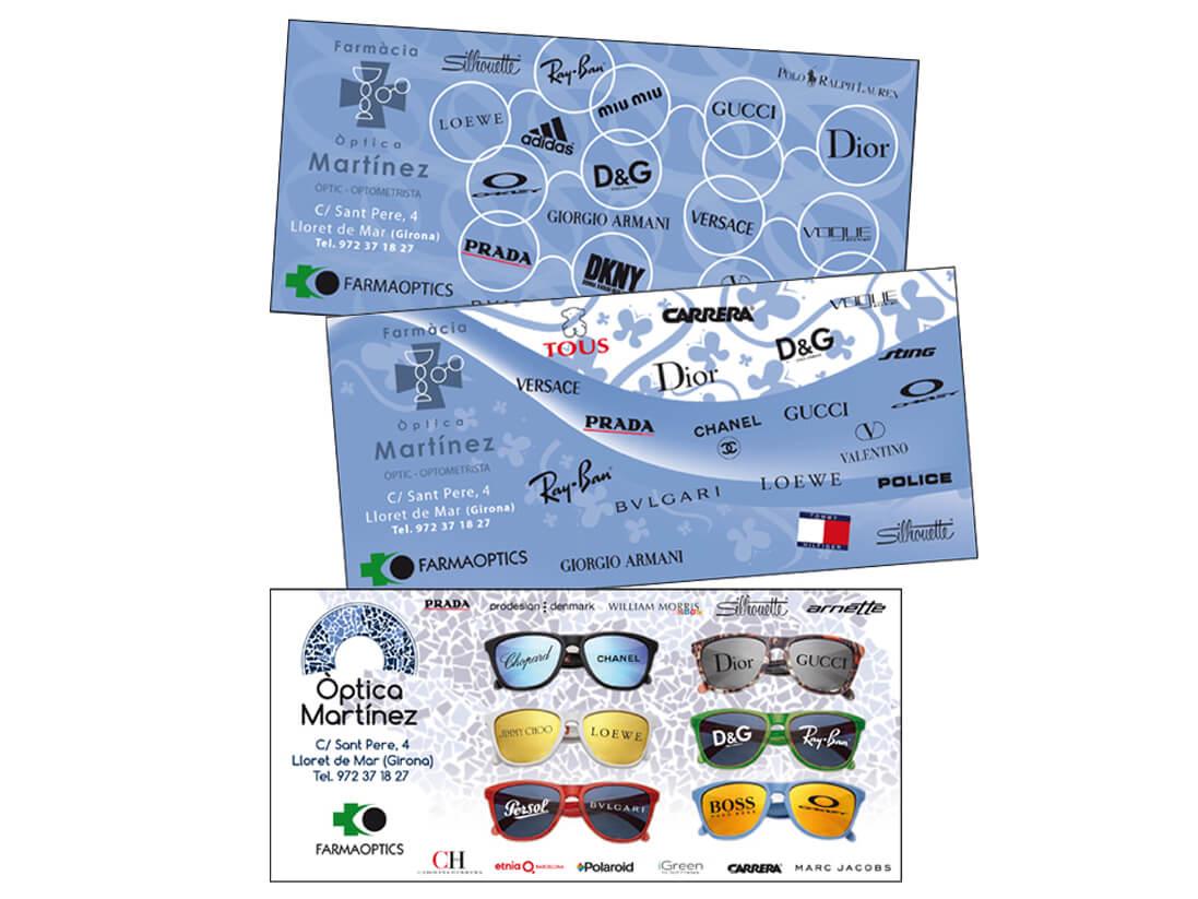 Publicidad corporativa Optica Martínez