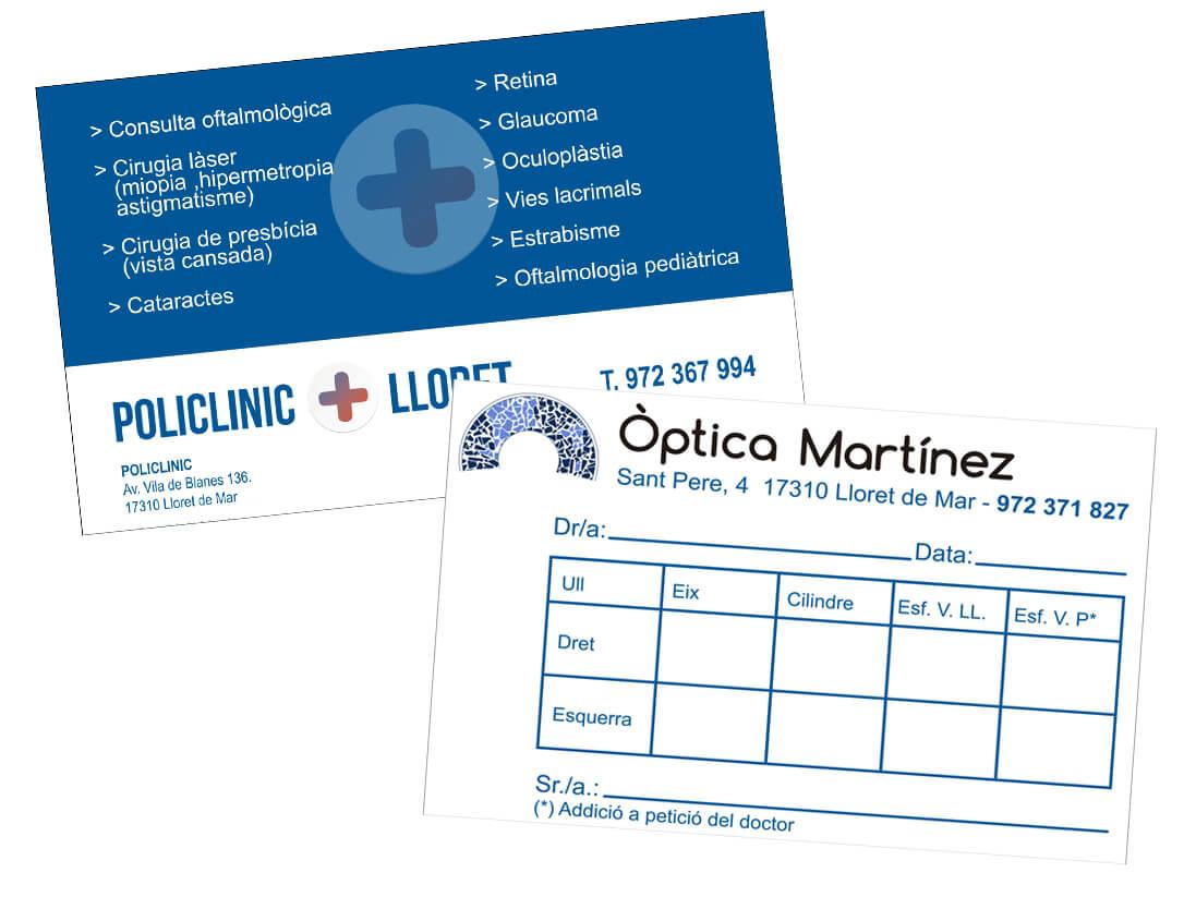 Papelería corporativa Optica Martínez